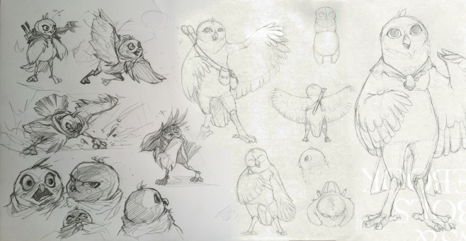 Round One: Owl Sketches